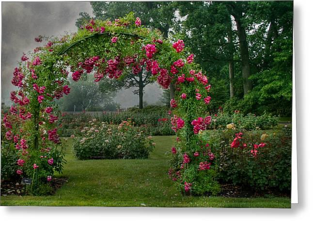 Trellis Greeting Cards - Hershey Gardens Greeting Card by Lori Deiter