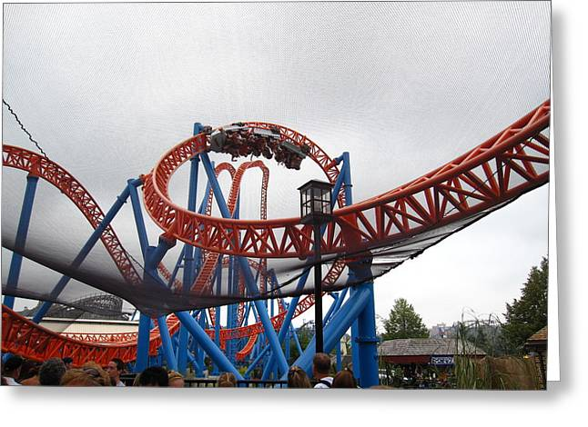 Factory Greeting Cards - Hershey Park - Fahrenheit Roller Coaster - 12124 Greeting Card by DC Photographer