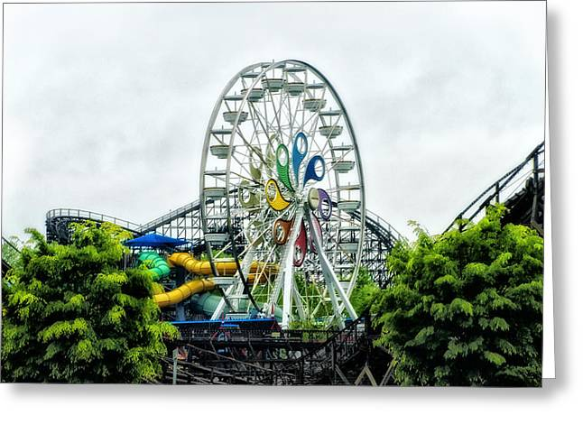 Hershey Greeting Cards - Hershey Park Ferris Wheel Greeting Card by Bill Cannon