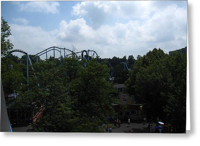 Pa Greeting Cards - Hershey Park - Great Bear Roller Coaster - 12121 Greeting Card by DC Photographer