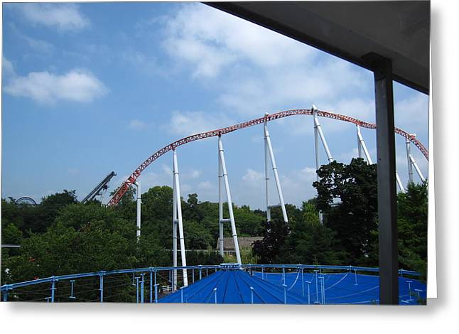 Pretty Photographs Greeting Cards - Hershey Park - Great Bear Roller Coaster - 12123 Greeting Card by DC Photographer