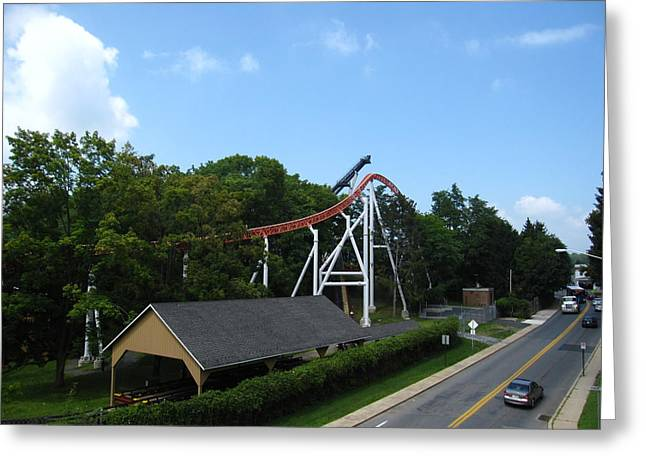 Coasters Greeting Cards - Hershey Park - Great Bear Roller Coaster - 12124 Greeting Card by DC Photographer