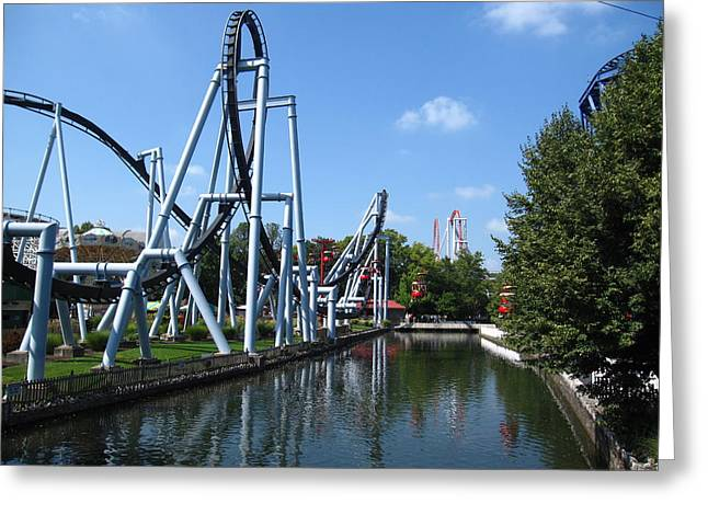 Pa Greeting Cards - Hershey Park - Great Bear Roller Coaster - 12126 Greeting Card by DC Photographer