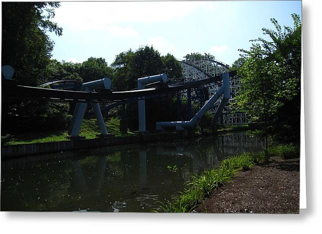 Coaster Greeting Cards - Hershey Park - Great Bear Roller Coaster - 12127 Greeting Card by DC Photographer