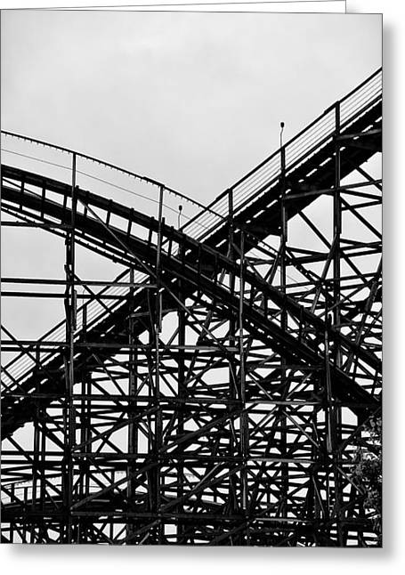Hershey Greeting Cards - Hershey Park RollerCoaster Greeting Card by Bill Cannon