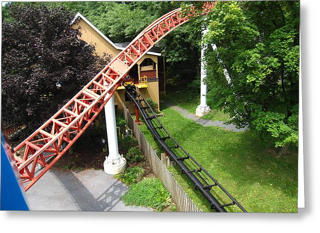 Stormrunner Greeting Cards - Hershey Park - Storm Runner Roller Coaster - 12121 Greeting Card by DC Photographer