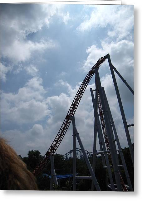 Stormrunner Greeting Cards - Hershey Park - Storm Runner Roller Coaster - 12122 Greeting Card by DC Photographer