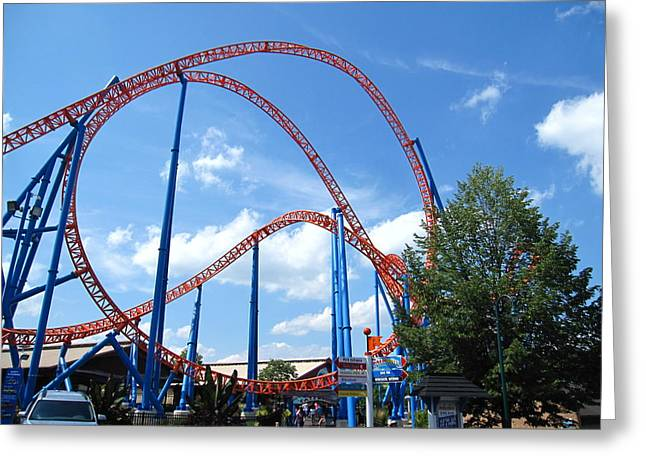 Runner Greeting Cards - Hershey Park - Storm Runner Roller Coaster - 12125 Greeting Card by DC Photographer