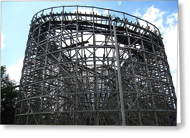 Wildcat Greeting Cards - Hershey Park - Wildcat Roller Coaster - 12122 Greeting Card by DC Photographer