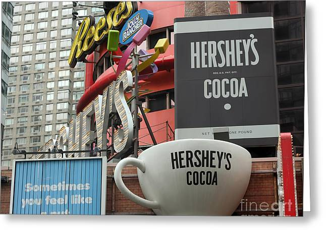 Hershey's Nyc Greeting Card by Terry Weaver