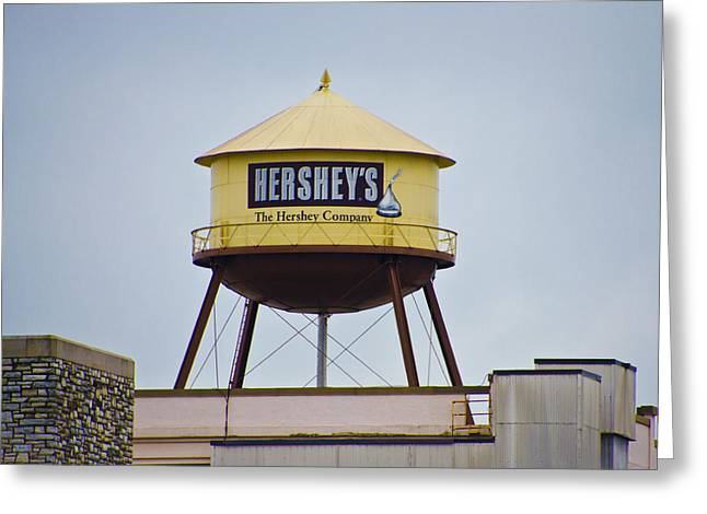 Watertower Greeting Cards - Hersheys Water Tower Greeting Card by Bill Cannon