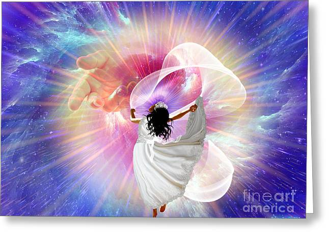 Husband Digital Art Greeting Cards - Hes Here Greeting Card by Dolores Develde