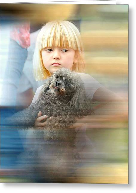 Candid Portraits Greeting Cards - Hes Mine Greeting Card by Diana Angstadt