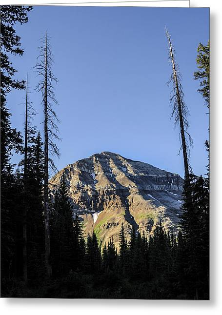 Asymmetrical Greeting Cards - Hesperus Mountain Greeting Card by Aaron Spong