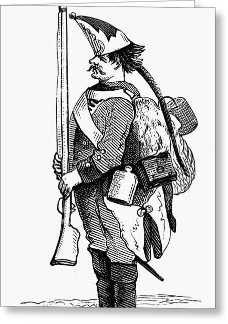 1770s Greeting Cards - Hessian Soldier Greeting Card by Granger