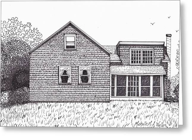 Hettinger Family Farm Greeting Card by Michelle Welles