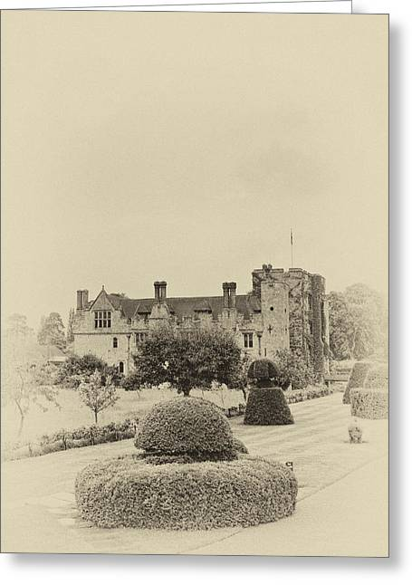 Medieval Entrance Greeting Cards - Hever Castle Yellow Plate 2 Greeting Card by Chris Thaxter