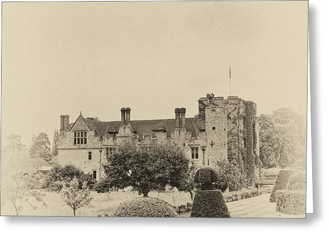 Hever Castle Yellow Plate 2 Greeting Card by Chris Thaxter