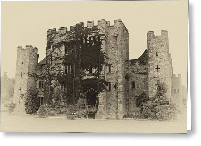 Medieval Entrance Greeting Cards - Hever Castle Yellow Plate Greeting Card by Chris Thaxter