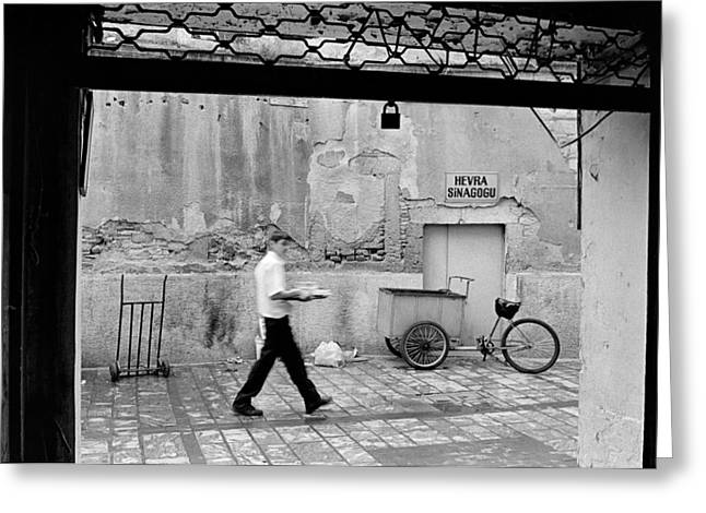 Old Street Greeting Cards - Hevra Synagogue Greeting Card by Ilker Goksen