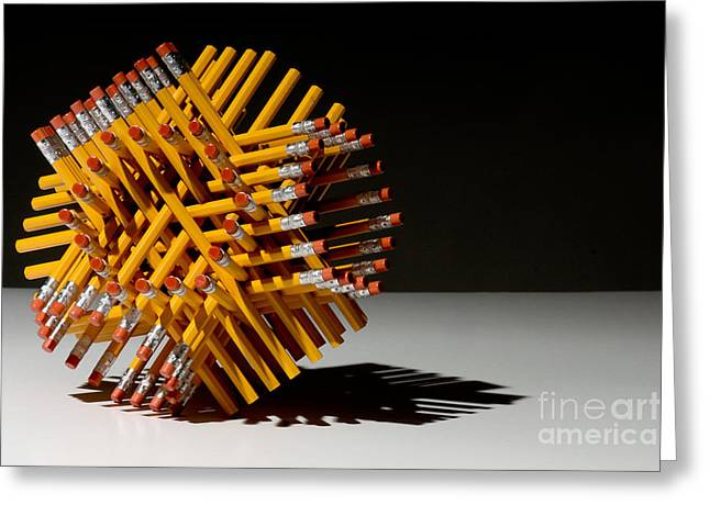 Dodecahedron Greeting Cards - Hexastix Greeting Card by Raul Gonzalez