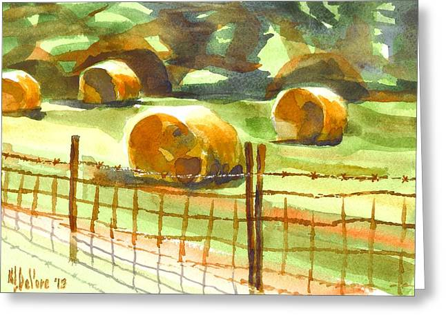 Hay Bales Greeting Cards - Hey Bales in the Afternoon Greeting Card by Kip DeVore