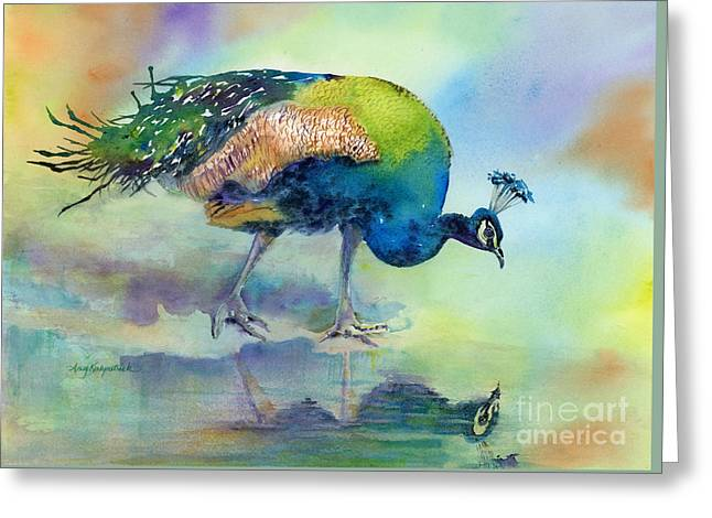 Tropical Bird Greeting Cards - Hey Good Lookin Greeting Card by Amy Kirkpatrick