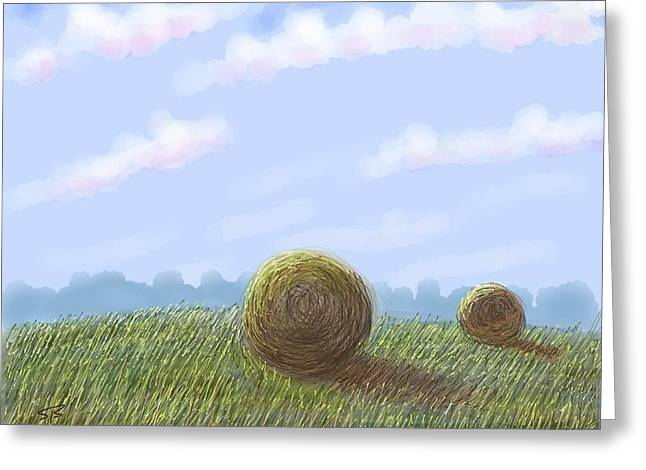Wacom Tablet Greeting Cards - Hey I See Hay Greeting Card by Stacy C Bottoms