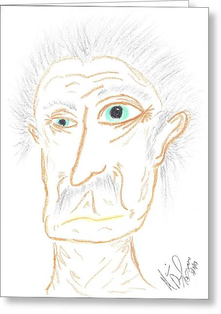 Gray Hair Pastels Greeting Cards - Hey That Looks Like... Greeting Card by Marie De Garo