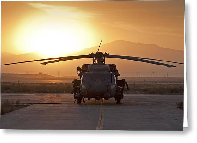 Helo Greeting Cards - HH-60 Pavehawk Greeting Card by Tim Grams