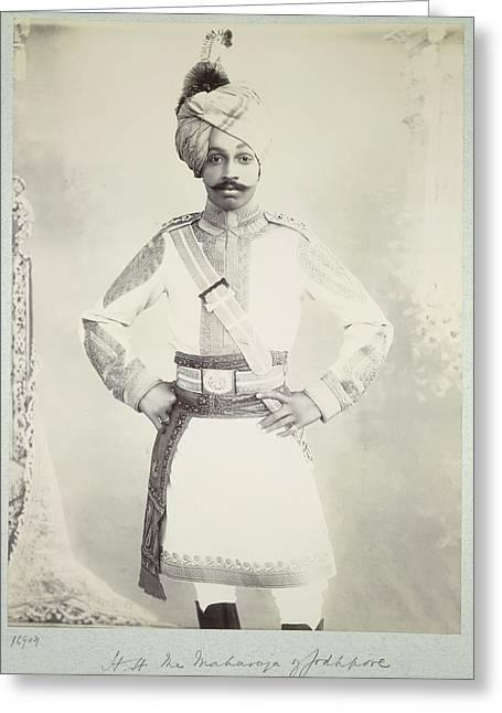 Hh The Maharaja Of Jodhpore Greeting Card by British Library