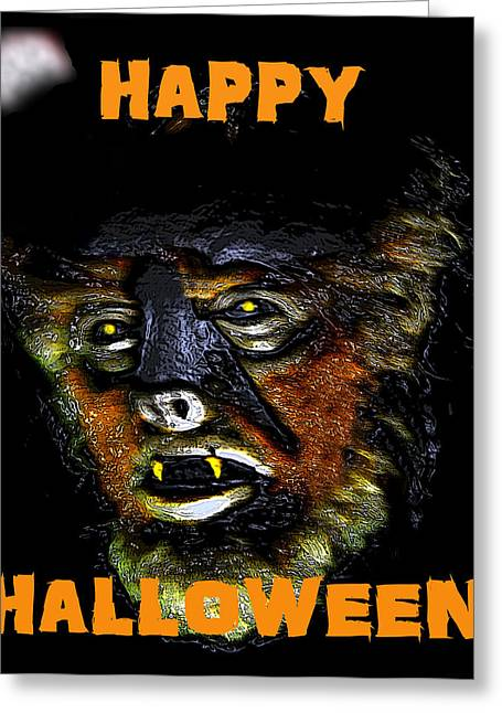 Movie Monsters Greeting Cards - HH wolfman card style Greeting Card by David Lee Thompson