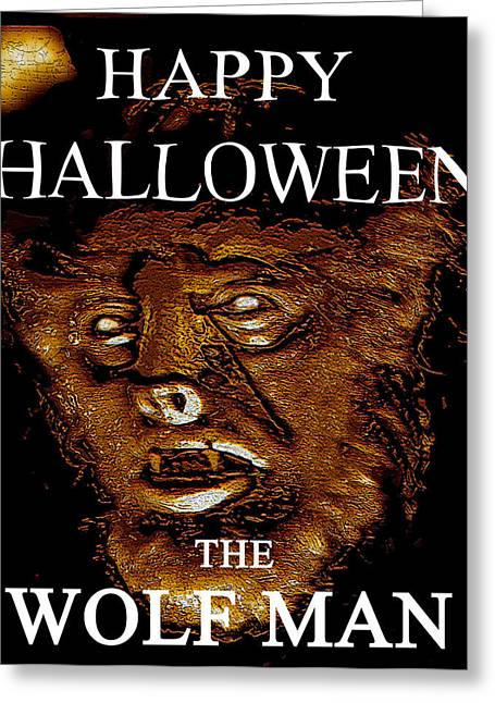Wolf Man Greeting Cards - HH wolfman classic style Greeting Card by David Lee Thompson