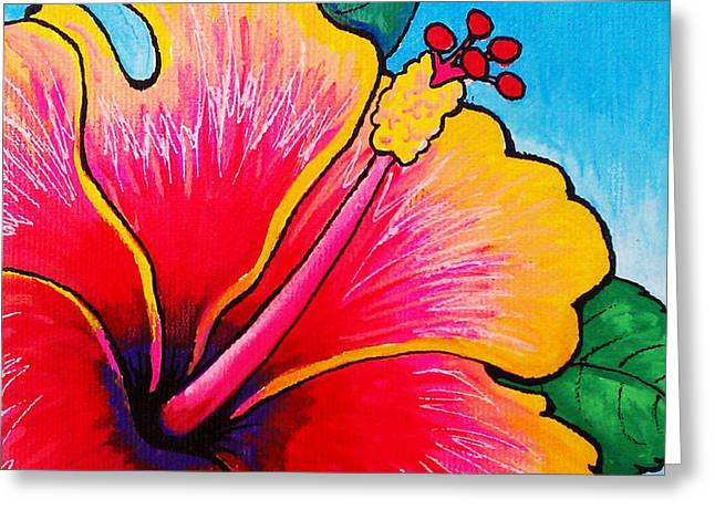 Hibiscus Coast Greeting Cards - Hibiscus 01 Greeting Card by Adam Johnson