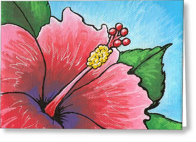 Hibiscus Coast Greeting Cards - Hibiscus 03 Greeting Card by Adam Johnson