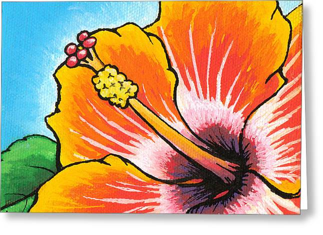 Hibiscus Coast Greeting Cards - Hibiscus 04 Greeting Card by Adam Johnson