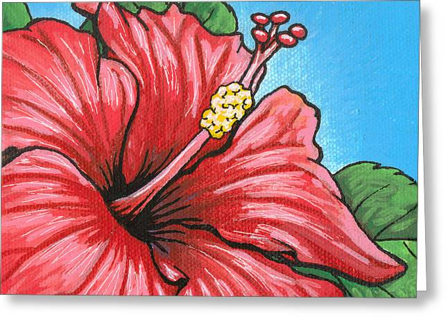 Hibiscus Coast Greeting Cards - Hibiscus 05 Greeting Card by Adam Johnson