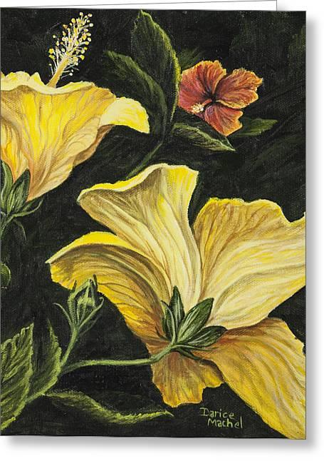 Hibiscus 2 Greeting Card by Darice Machel McGuire
