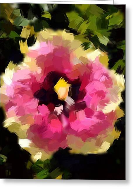Kauia Pyrography Greeting Cards - Hibiscus Acrylic Greeting Card by Ange Sylvestri
