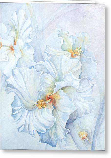 Kelly Johnson Greeting Cards - Hibiscus Bells Greeting Card by Kelly Johnson