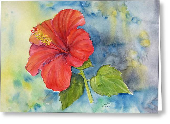 Hibiscus  Greeting Card by Janina  Suuronen