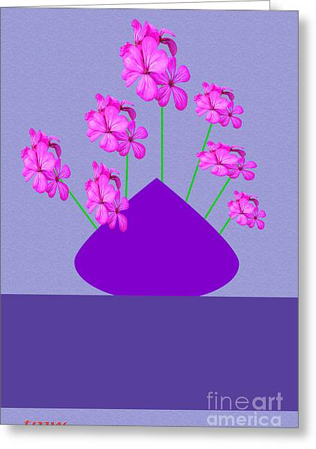 Installation Art Greeting Cards - Hibiscus On Vase Greeting Card by Tina M Wenger