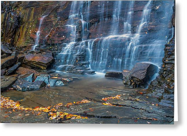 Chimney Rock North Carolina Greeting Cards - Hickory Nut Falls in Chimney Rock State Park Greeting Card by Pierre Leclerc Photography