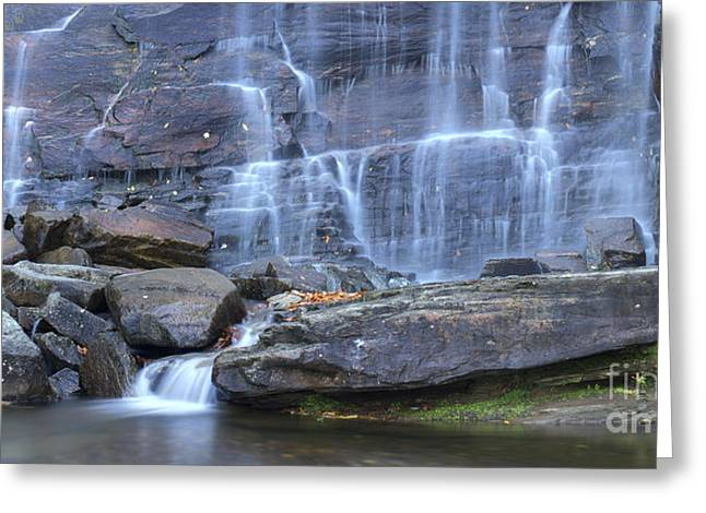 Mohicans Greeting Cards - Hickory Nut Falls Waterfall Greeting Card by Dustin K Ryan