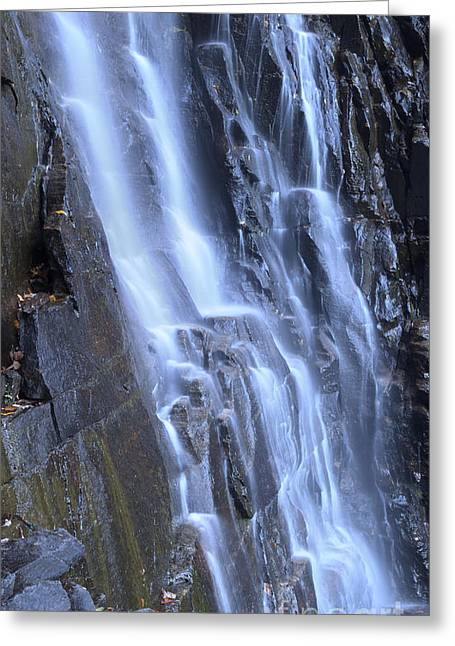 Chimney Rock North Carolina Greeting Cards - Hickory Nut Falls Waterfall NC Greeting Card by Dustin K Ryan