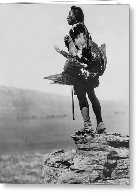Hidatsa Indian Circa 1908 Greeting Card by Aged Pixel