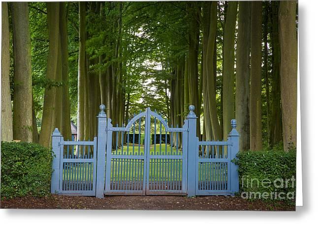Hidcote Gate Greeting Card by Brian Jannsen