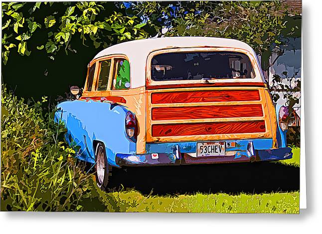Station Wagon Greeting Cards - Hidden 53 Greeting Card by Ron Regalado