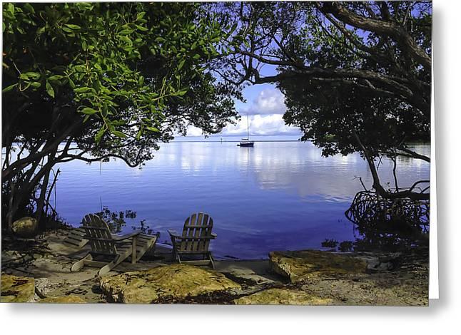 Fishing Boats Greeting Cards - Hidden Among the Mangroves Greeting Card by Sarah Donald