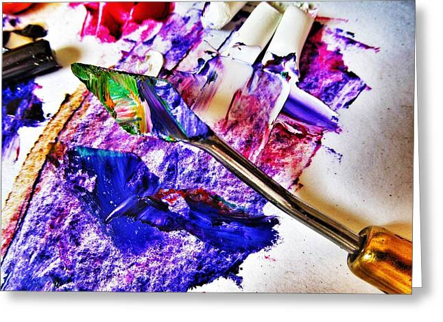 Palette Knife Art Greeting Cards - Hidden Art Greeting Card by Marianna Mills
